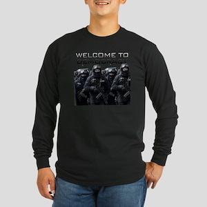 Welcome To Democracy Long Sleeve Dark T-Shirt