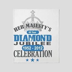 Queen Elizabeth Diamond Jubilee Throw Blanket