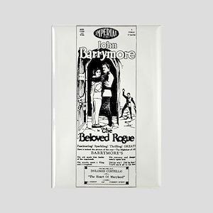 John Barrymore Beloved Rogue Rectangle Magnet