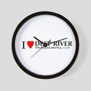 I heart Deep River Wall Clock