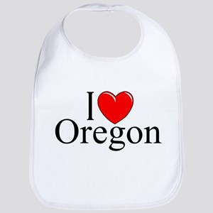 """I Love Oregon"" Bib"