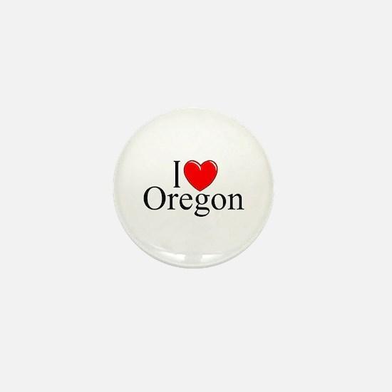 """""""I Love Oregon"""" Mini Button"""