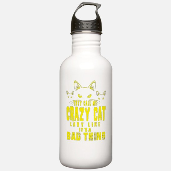 Unique Cat lady Water Bottle