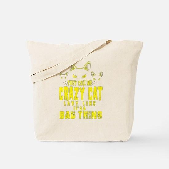 Unique Crazy cat lady Tote Bag