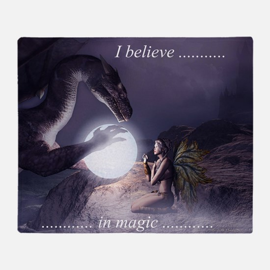 I believe in Magic (v1a) Throw Blanket