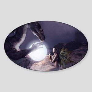 I believe in Magic (v1a) Sticker (Oval)