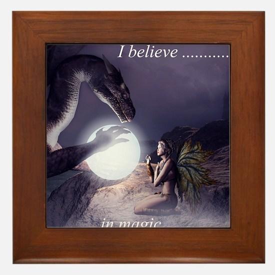 I believe in Magic (v1a) Framed Tile