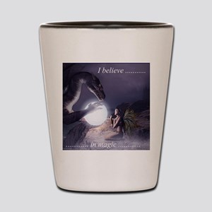 I believe in Magic (v1a) Shot Glass