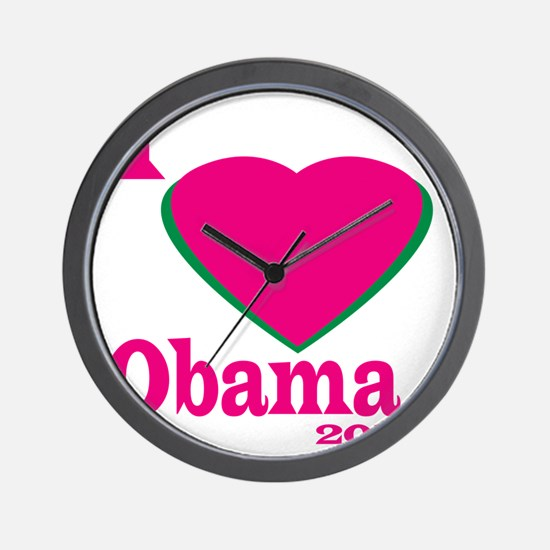 I Love obama Wall Clock