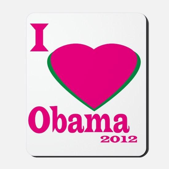I Love obama Mousepad
