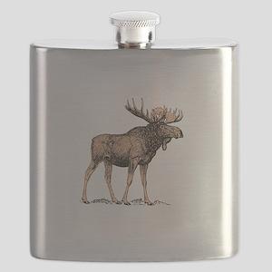 Canadian Moose Flask