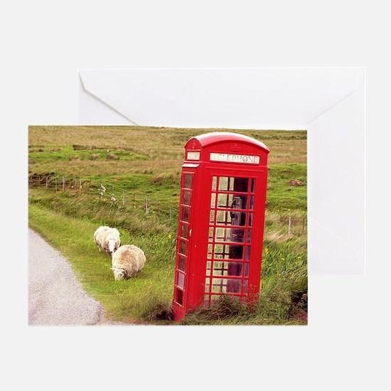 Vintage Phone Booth Greeting Card