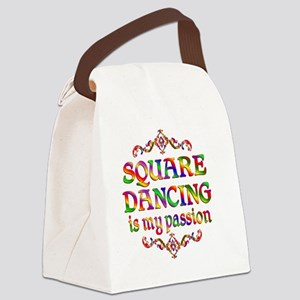 Square Dancing Canvas Lunch Bag