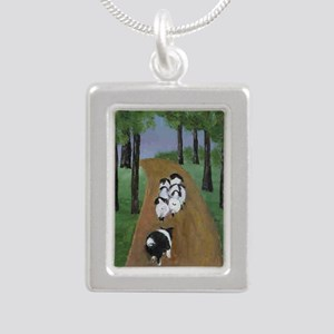 Going Home Silver Portrait Necklace