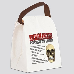 Necromancer Pick Up Lines Canvas Lunch Bag