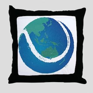 world tennis ball globe Throw Pillow