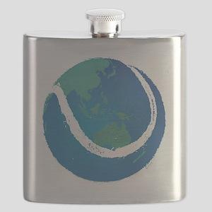 world tennis ball globe Flask