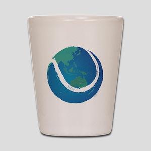 world tennis ball globe Shot Glass