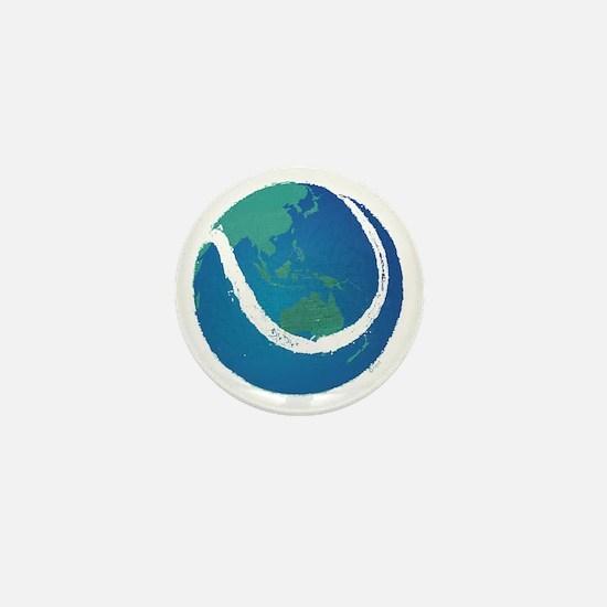 world tennis ball globe Mini Button