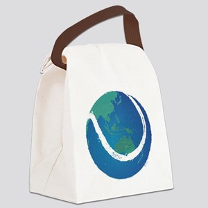world tennis ball globe Canvas Lunch Bag