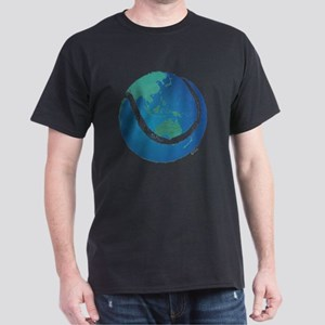 tennis ball world globe Dark T-Shirt