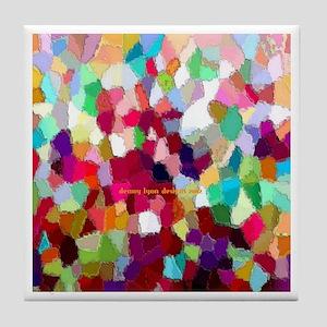 Rainbow Colors Tile Coaster