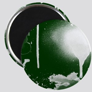 Ink and Paint, White on Green, Magnet