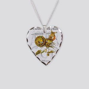 Whole Armor of God--Silver Necklace Heart Charm