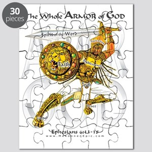 Whole Armor of God--Silver Puzzle