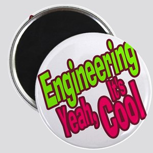 Engineering is Cool (Green) Magnet