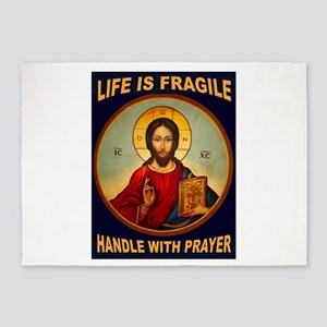 FRAGILE PRAYER 5'x7'Area Rug