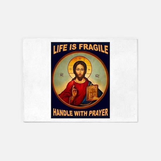 FRAGILE PRAYER 5'x7'Area Rug