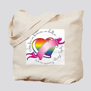 Support Heart Tote Bag