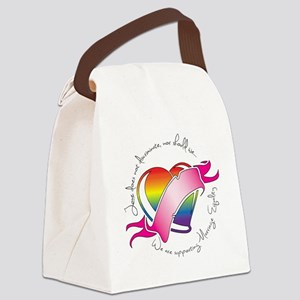 Support Heart Canvas Lunch Bag