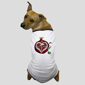 Judaica Pomegranate Heart Dog T-Shirt