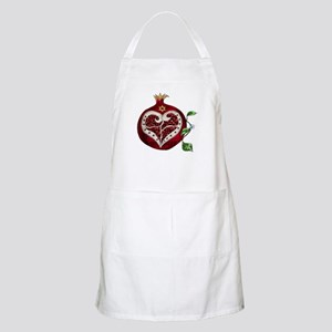 Judaica Pomegranate Heart Apron