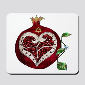 Judaica Pomegranate Heart Mousepad