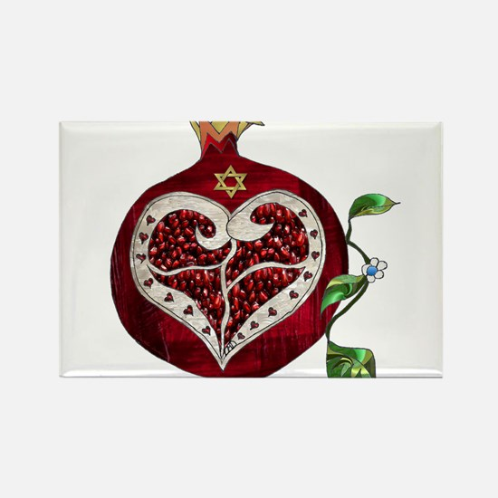 Judaica Pomegranate Heart Magnets