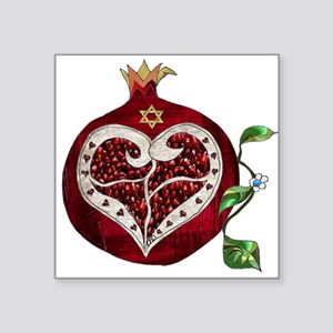 Judaica Pomegranate Heart Sticker