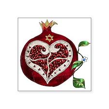 Judaica Pomegranate Heart Sticker