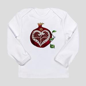 Judaica Pomegranate Heart Long Sleeve T-Shirt