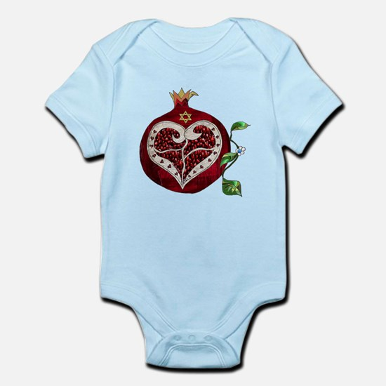 Judaica Pomegranate Heart Body Suit