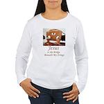 editedjesusbridgeab Long Sleeve T-Shirt