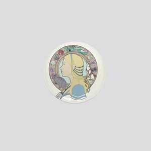 Alice in Wonderland Art Nouveau Mini Button