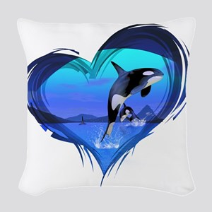 orka3_hell Woven Throw Pillow