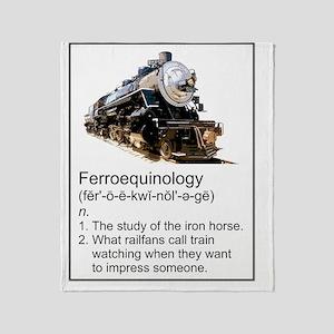 Ferroequinology Throw Blanket