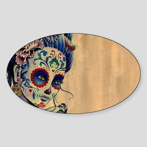 Marie de los Muertos Laptop Cover Sticker (Oval)