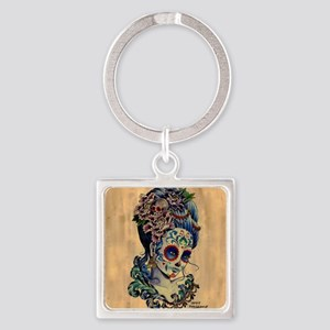 Marie Muertos Cushion cover Square Keychain