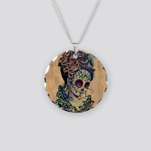 Marie Muertos Cushion cover Necklace Circle Charm