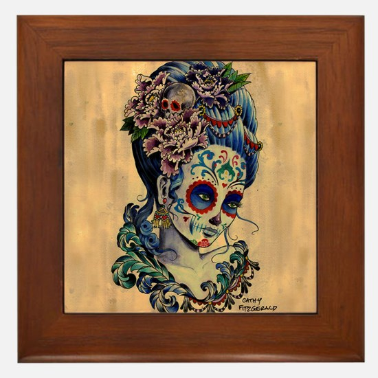 Marie Muertos Cushion cover Framed Tile